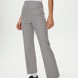 Aritzia high-rise plaid flare pants